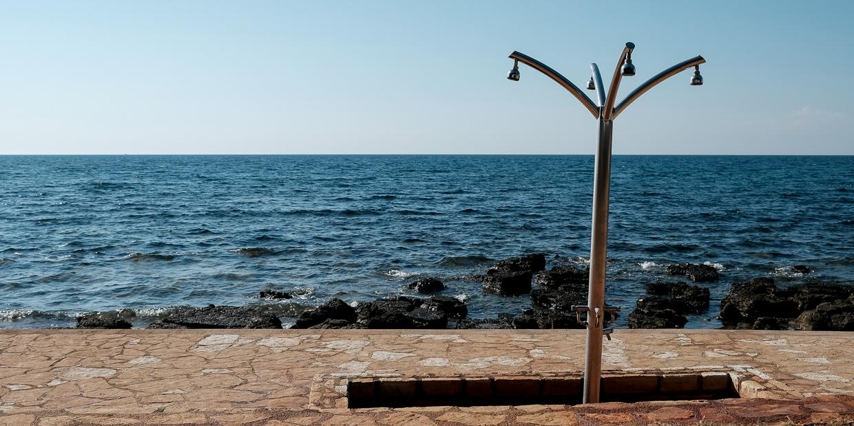 Dusche am Strand