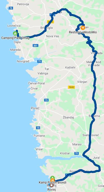 Umag - Grožnjan - Rovinj - 75 km